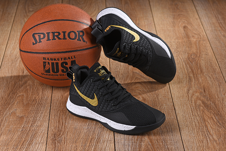 Nike LeBron Witness III Black Gold White Shoes