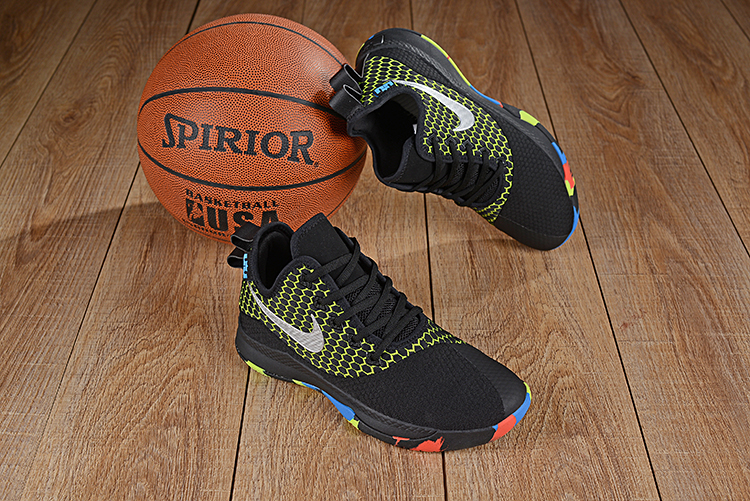 Nike LeBron Witness III Black Green Colorful Shoes