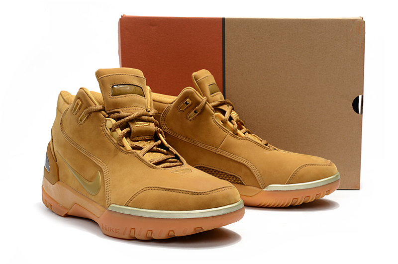 Nike Lebron 1 Retro Wheat Yellow Shoes