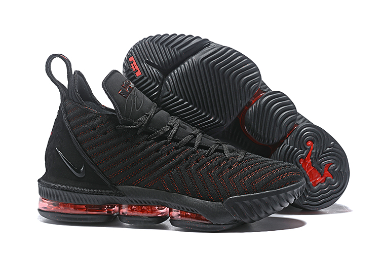 Nike Lebron James 16 Black Red Shoes For Women