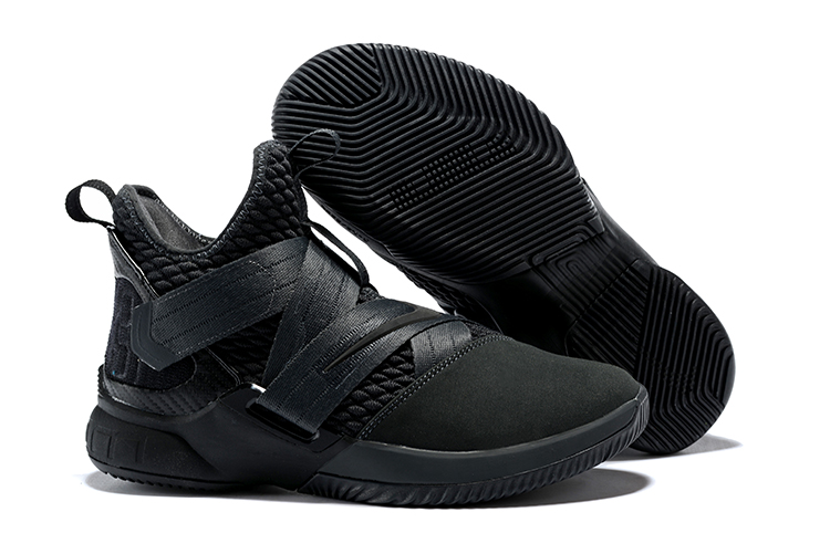 Nike Lebron Soldier 12 All Black Shoes