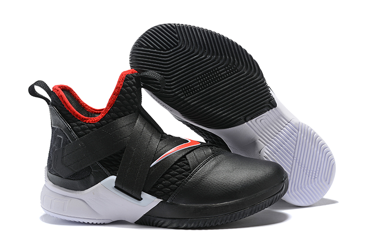Nike Lebron Soldier 12 Black Red White Shoes