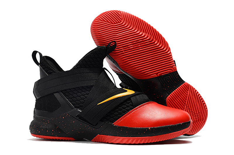 Nike Lebron Soldier 12 Black Red Yellow Shoes