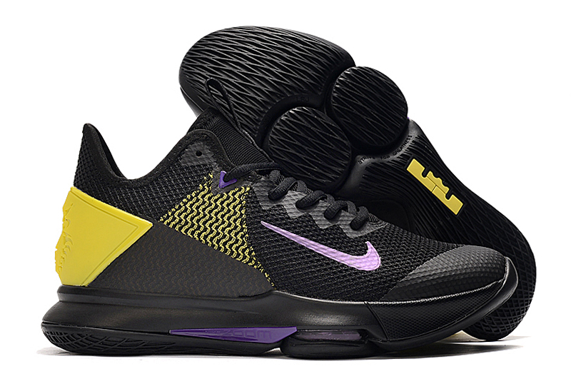Nike Lebron Witness 4 Lakers Black Yellow Blue Shoes