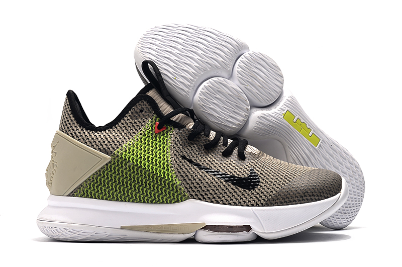 Nike Lebron Witness 4 Grey Green Black White Shoes