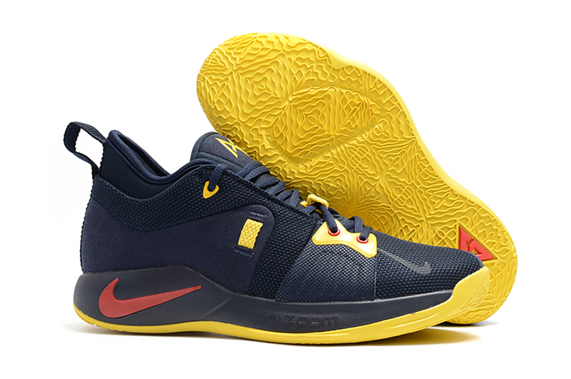 Nike PG 2 Black Yellow Red Basketball Shoes