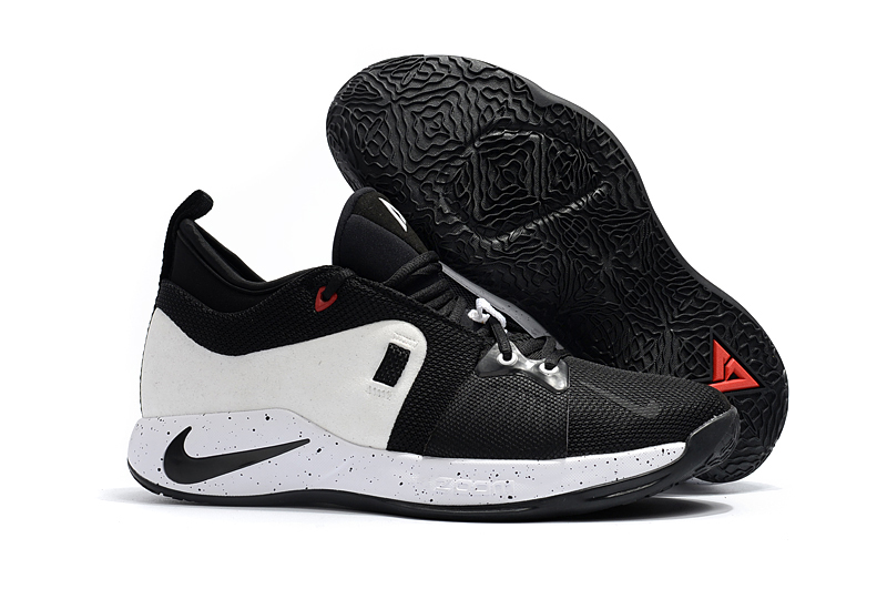 Nike PG 2 White Black Red Basketball Shoes