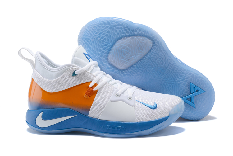 Nike PG 2 White Blue Yellow Shoes