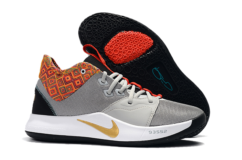 Nike PG 3 BHM Grey Orange Black Shoes