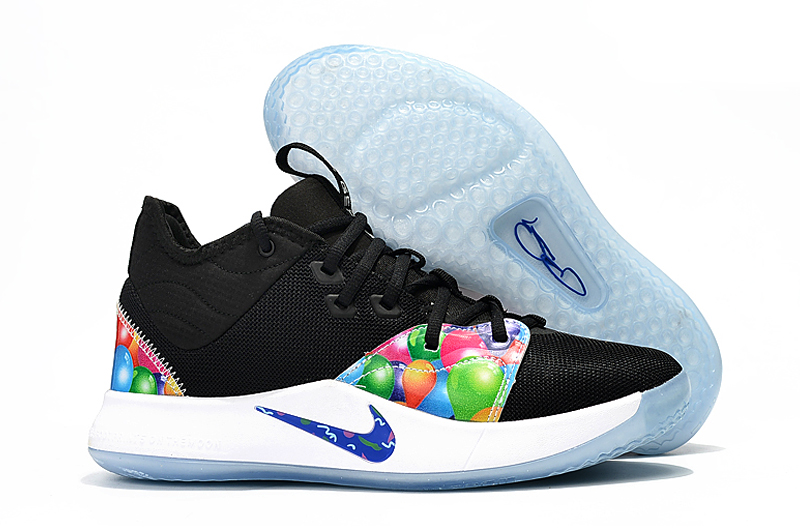 Nike PG 3 Black Colorful Ball Shoes
