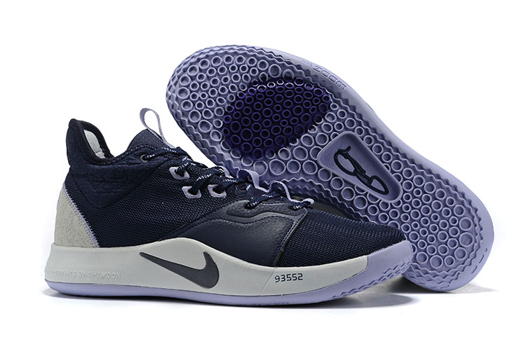 Nike PG 3 Deep Blue White Shoes