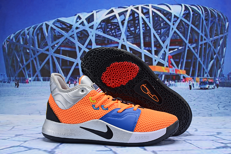 Nike PG 3 Orange Blue Black Silver Shoes