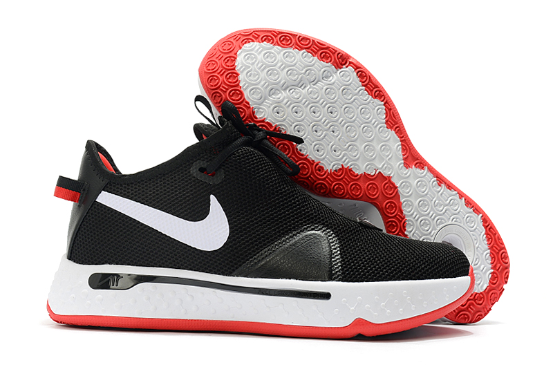 Nike PG 4 Black White Red Shoes