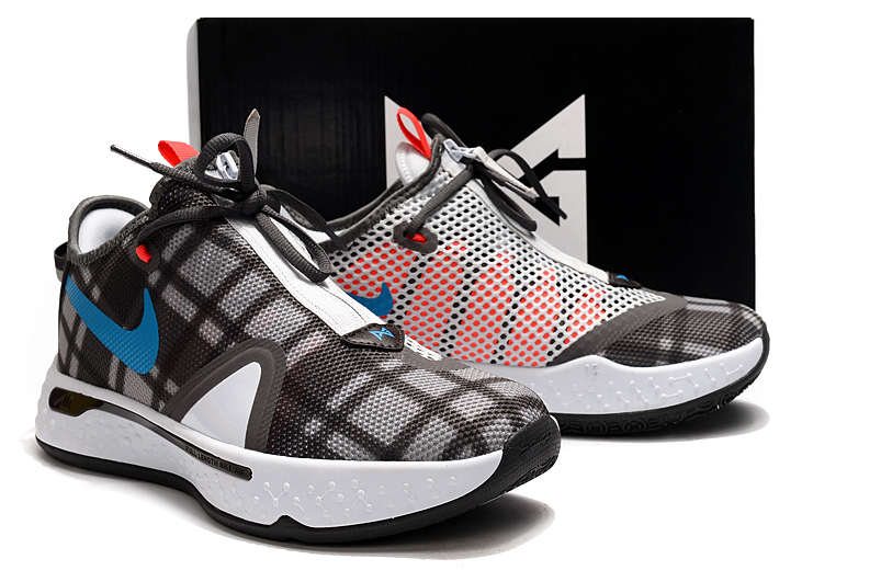 Nike PG 4 Grey Brown Blue Red White Shoes