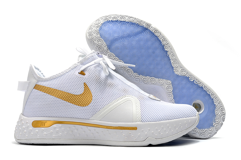 Nike PG 4 White Gold Shoes