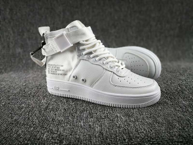 Women Nike Special Field SF AF1 Mid All White Shoes
