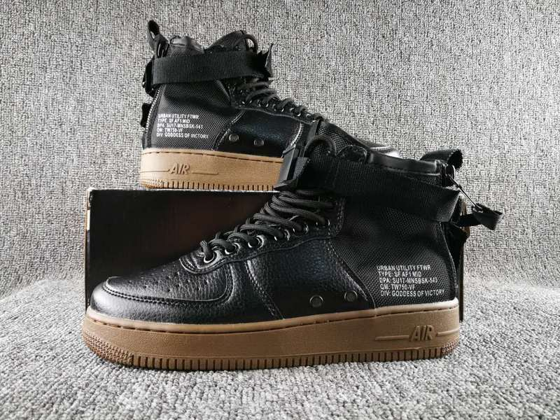 Women Nike Special Field SF AF1 Mid Black Brown Shoes