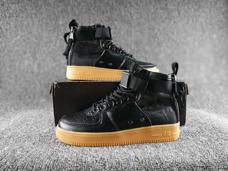 Women Nike Special Field SF AF1 Mid Black Yellow Shoes