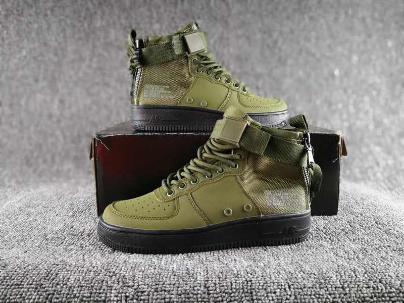 Women Nike Special Field SF AF1 Mid Green Black Shoes