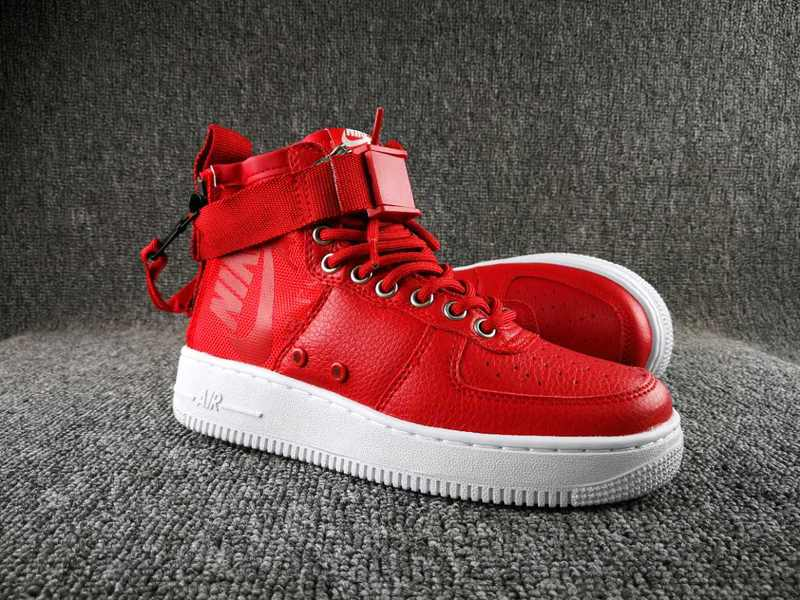 Women Nike Special Field SF AF1 Mid Red White Shoes