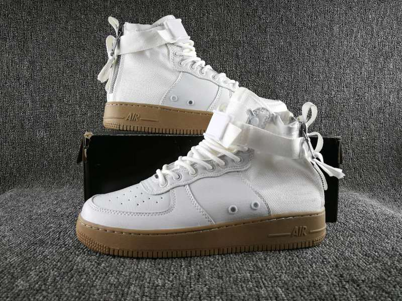 Women Nike Special Field SF AF1 Mid White Gum Shoes