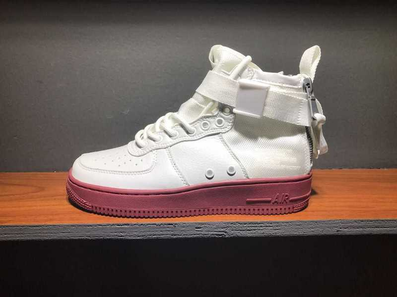 Women Nike Special Field SF AF1 Mid White Red Lover Shoes