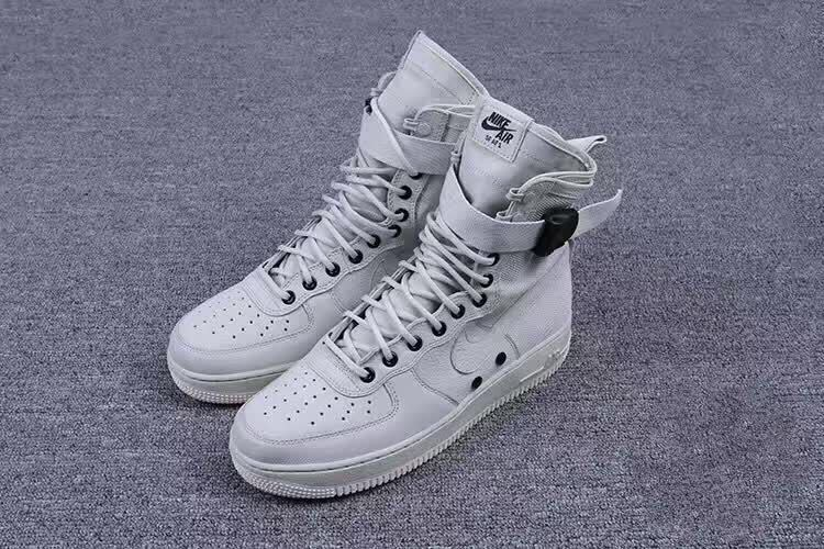 Women Nike Special Forces Air Force 1 Boots Beige Golden Beige Linen Shoes