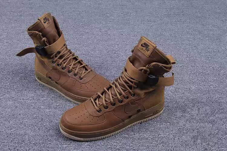 Women Nike Special Forces Air Force Boots Faded Olive Gum Light Brown Shoes