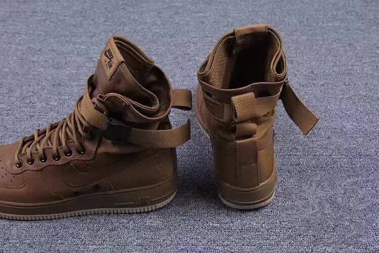 new product 4b756 aa21b Women Nike Special Forces Air Force Boots Faded Olive Gum Light Brown Shoes