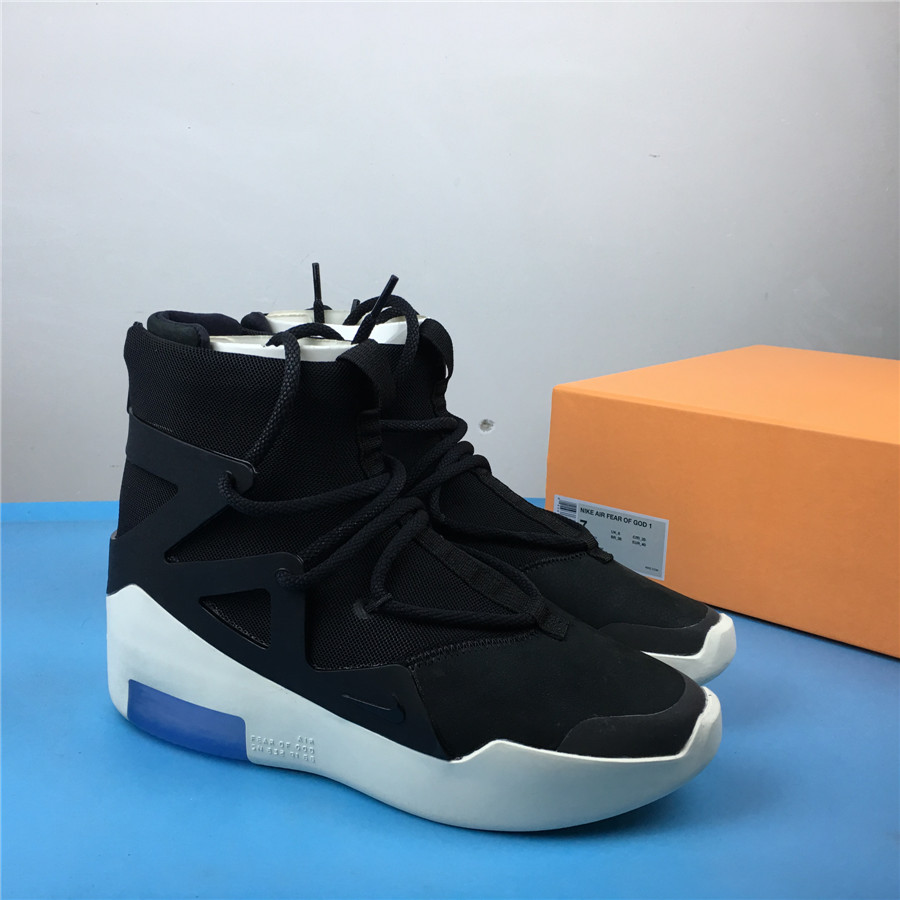 Nike X Fear of God 1 FOG Black White Shoes