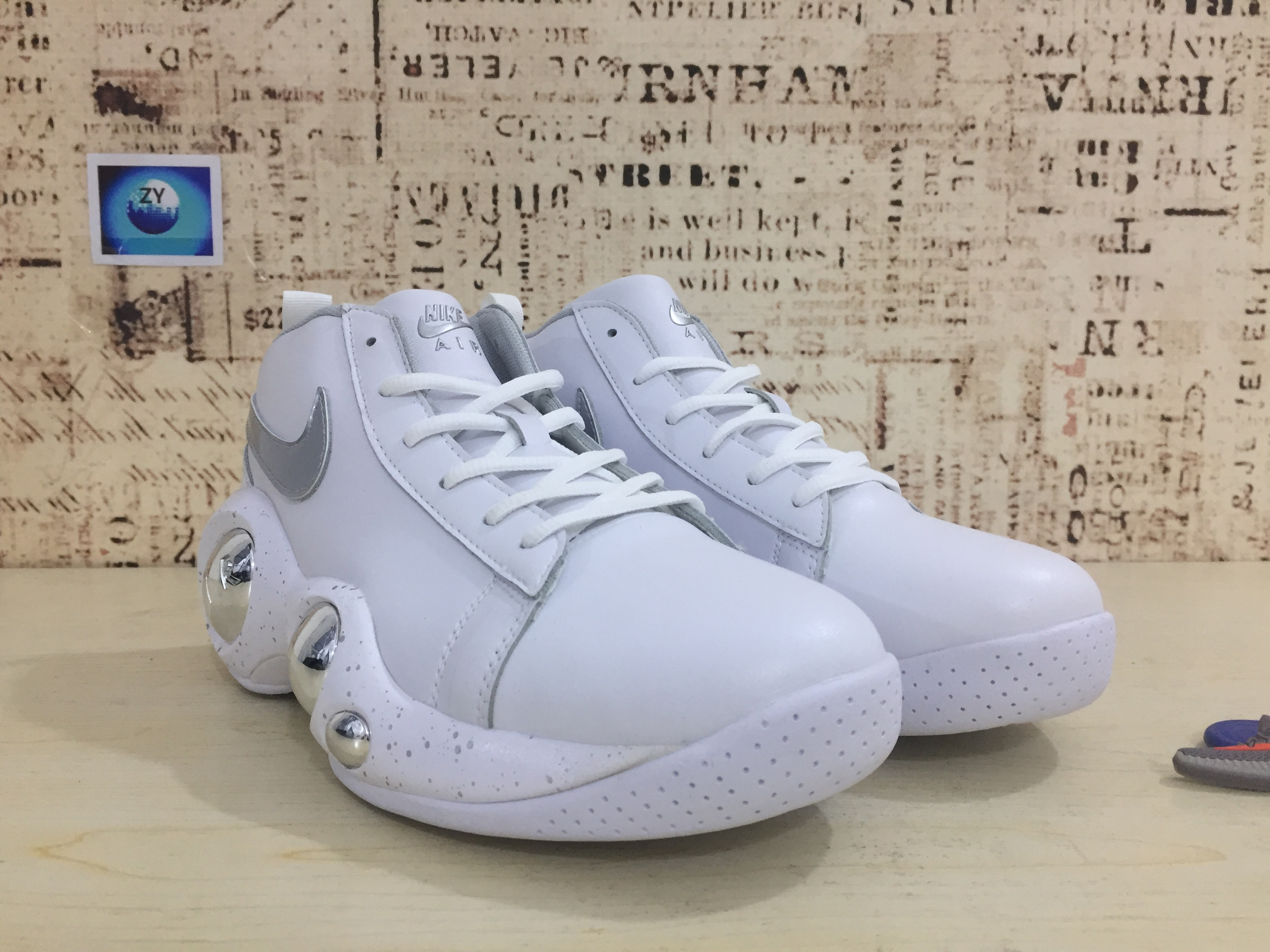 Nike Zoom Bonafide White Silver Shoes