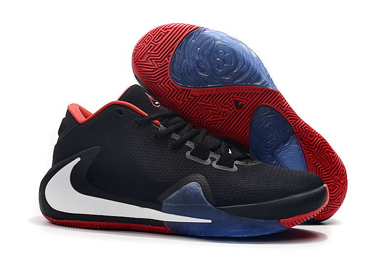 Nike Zoom Freak 1 Black Red White Blue Shoes
