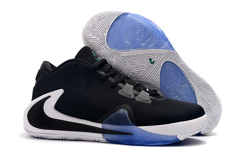 Nike Zoom Freak 1 Black White Blue Shoes