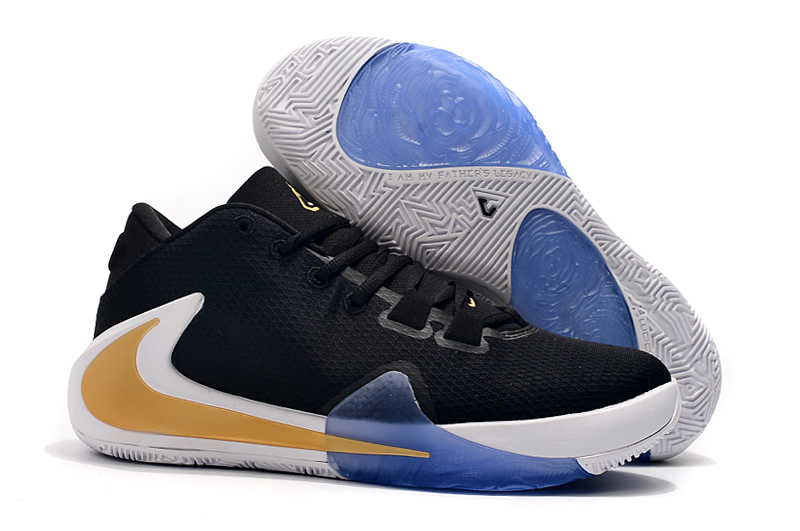 Nike Zoom Freak 1 Black White Gold Blue Shoes
