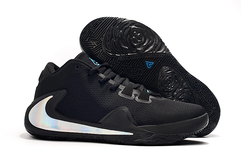 Nike Zoom Freak 1 Black White Logo Shoes