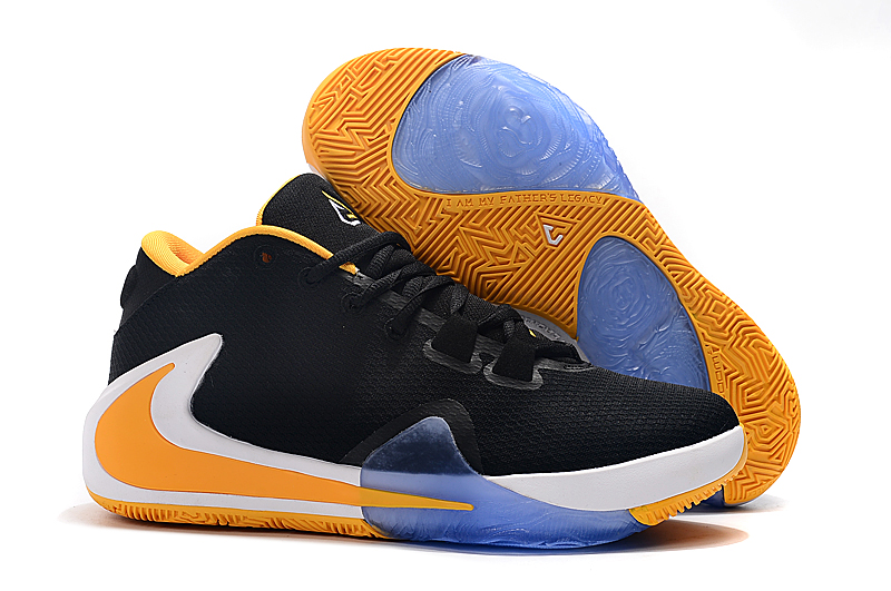 Nike Zoom Freak 1 Black Yellow White Blue Shoes