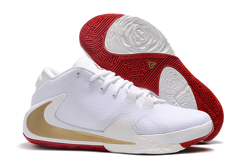 Nike Zoom Freak 1 White Gold Red Shoes