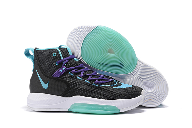 Nike Zoom Rise 2019 Black Jade White Basketball Shoes