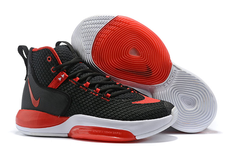 Nike Zoom Rise 2019 Black Red White Basketball Shoes
