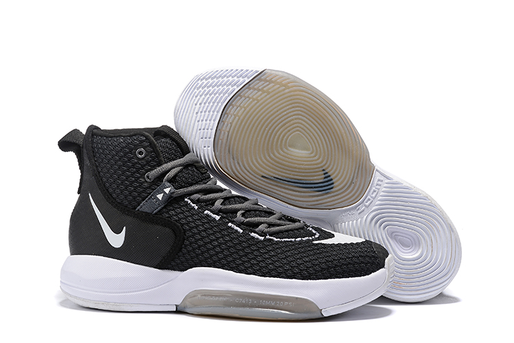 Nike Zoom Rise 2019 Black White Basketball Shoes