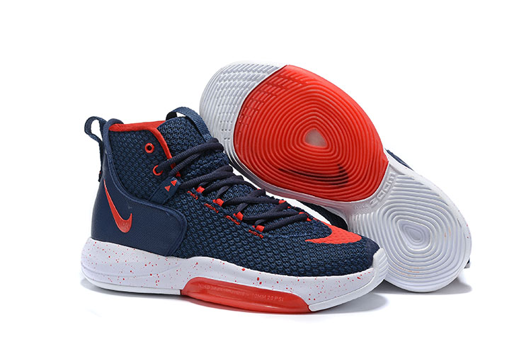 Nike Zoom Rise 2019 Blue Red White Basketball Shoes