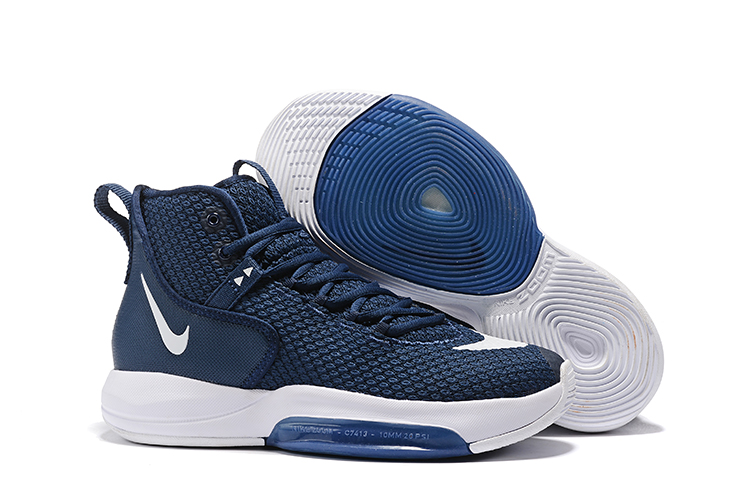 Nike Zoom Rise 2019 Deep Blue White Basketball Shoes