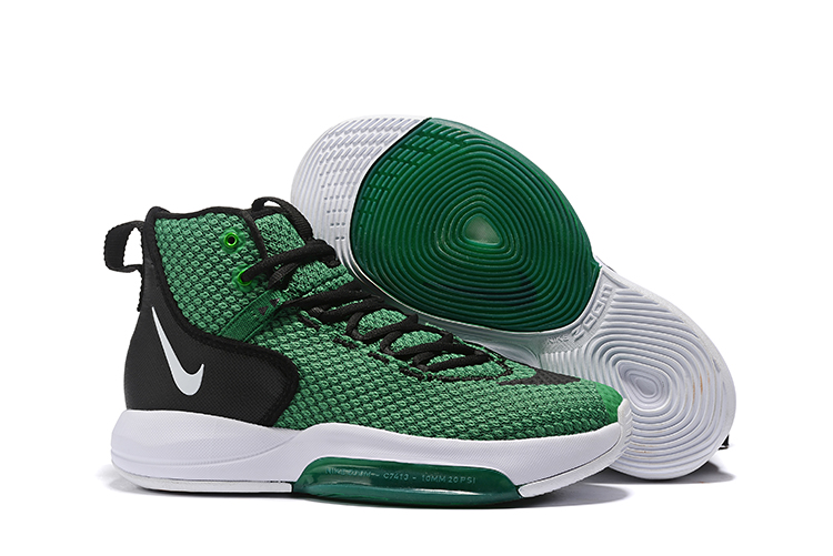 Nike Zoom Rise 2019 Green Black White Basketball Shoes