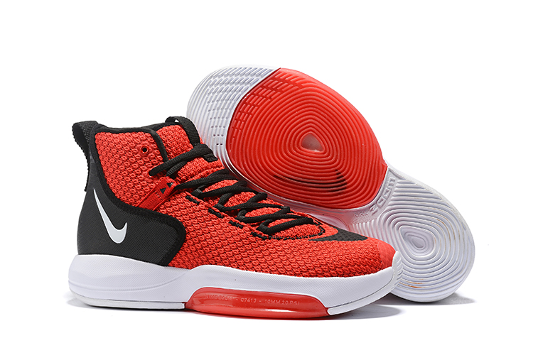Nike Zoom Rise 2019 Red Black White Basketball Shoes