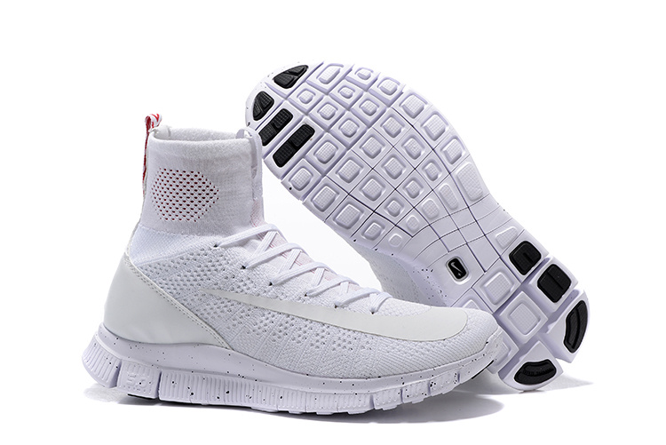 Nike 5.0 Free Mercurial Superfly All White Shoes