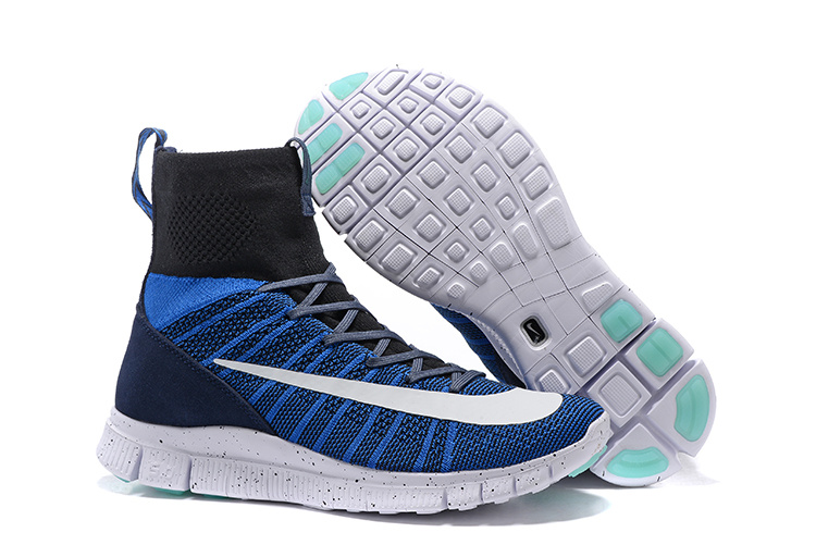 Nike 5.0 Free Mercurial Superfly Blue Black White Shoes