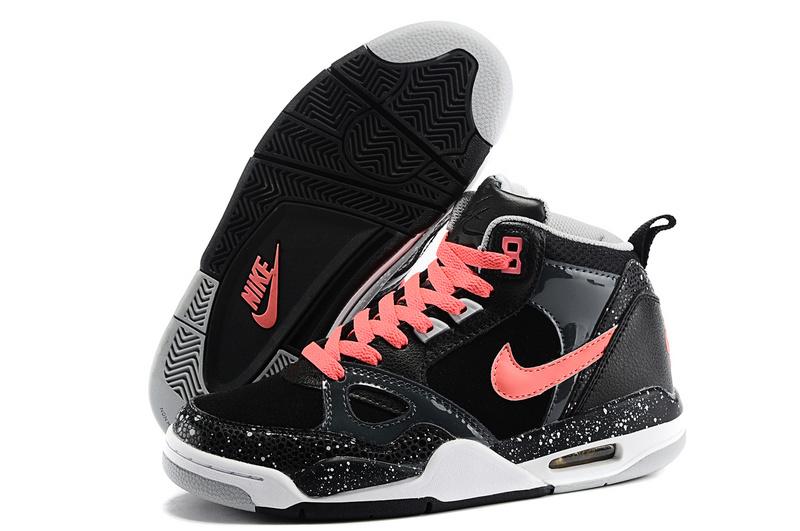 differently 92a81 88bf3 Nike Air Flight 89 AJ4 Black Orange White Shoes
