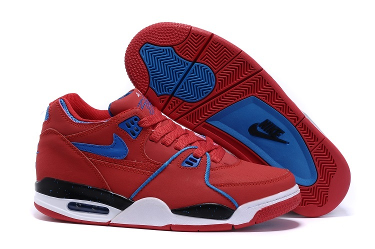 timeless design c615f 3f08c ... closeout nike air flight 89 all red blue shoes c65b1 c35ad