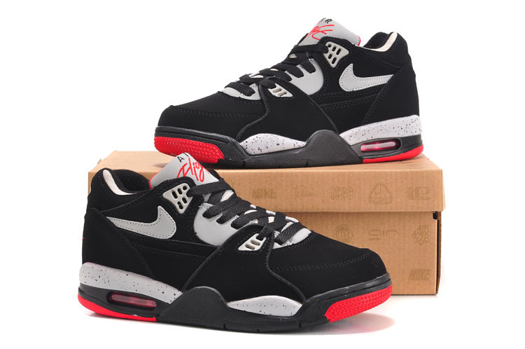 Nike Air Flight 89 Black Grey Red For Women