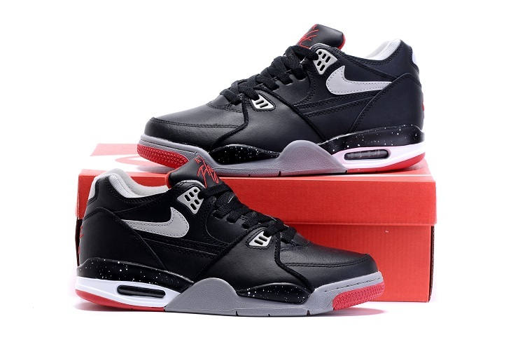 new arrival d3593 b0855 Nike Air Flight 89 Black Red Shoes